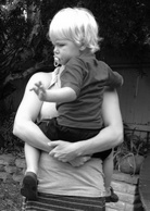 ergonomical how to carry a child-bw