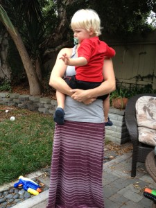 ergonomical how to carry a child